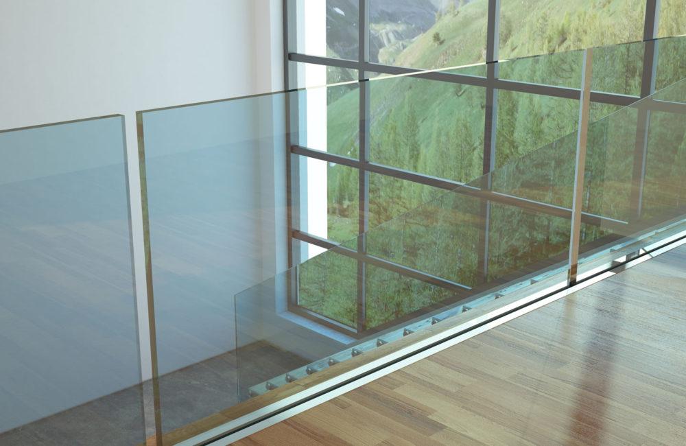 escaliers et garde de corps en verre